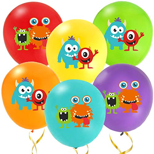 KREATWOW Monster Bash Balloons for Party Decorations 36 Pack