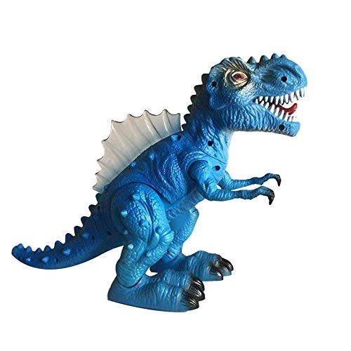 Littleice Walking Dragon Toy Electric Roaring Tyrannosaurus Rex Dinosaur Resonance Simulation Light Music Toys Blue