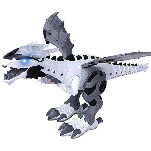 Littleice Walking Dragon Toy Fire Breathing Water Spray Dinosaur Mechanical Electric Light Simulation Model