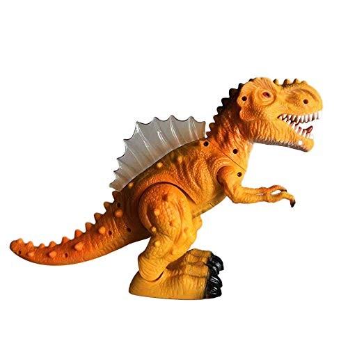 Littleice Walking Dragon Toy Electric Roaring Tyrannosaurus Rex Dinosaur Resonance Simulation Light Music Toys Orange