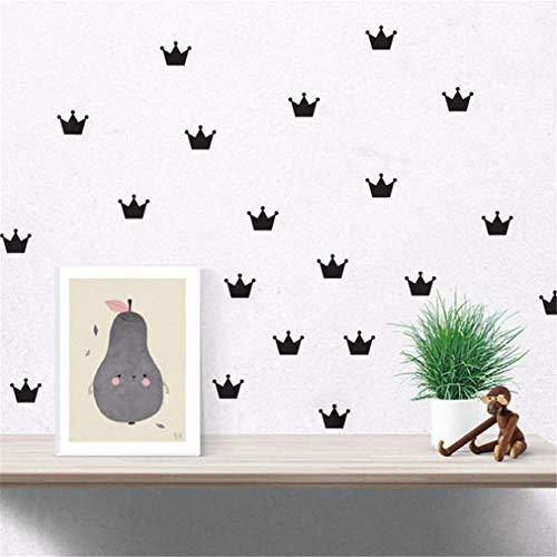 EWQHD 15Pcs Set Crown Wall Stickers Kid's Bedroom Decorate Decals Princess Baby Room Decor Vinyl Sticker for Kids Rooms D