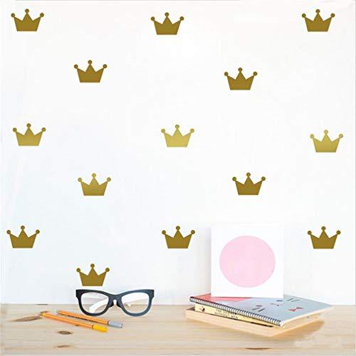 EWQHD 15Pcs Set Crown Wall Stickers Kid's Bedroom Decorate Decals Princess Baby Room Decor Vinyl Sticker for Kids Rooms B