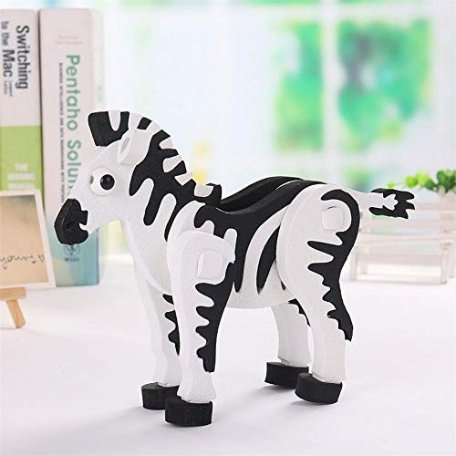 3D Foam Stereo Zebra Jigsaw Puzzle Educational Toy DIY EVA Model Building Blocks Set for Baby Kids