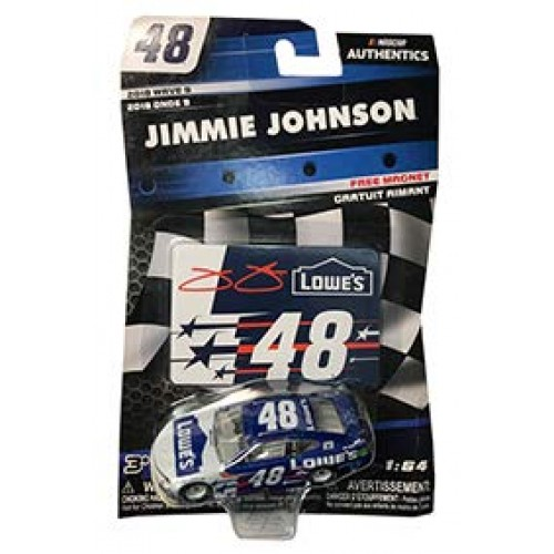NASCAR 2018 Wave 9 Authentics #48 Jimmie Johnson Lowes Patriotic Red White Blue 1/64