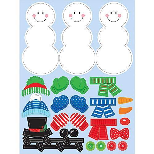 Creative Converting Build A Snowman Stickers 45 x 6 Multi-color