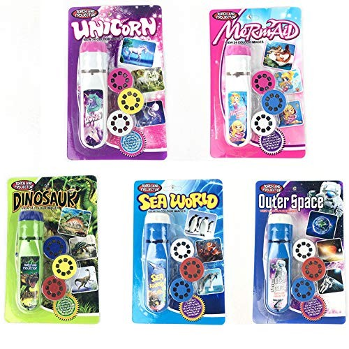 Projector Flashlight Night Photo Picture Light Bedtime Study Learning Fun Toys for Baby Kids 3 Age 5 Pack