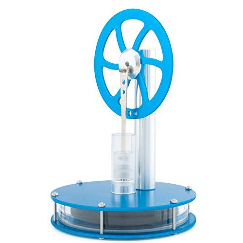 DjuiinoStar High Performance Low Temperature Stirling Engine Rotate 1 Hour on A Mug of Hot Coffee
