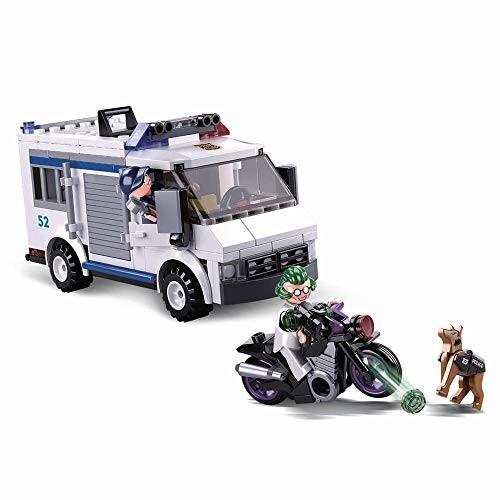 SlubanKids Creative Building Blocks Set Imaginative Indoor Games Toys for Kids Mega SWAT Police Car Jeep and More Transporter