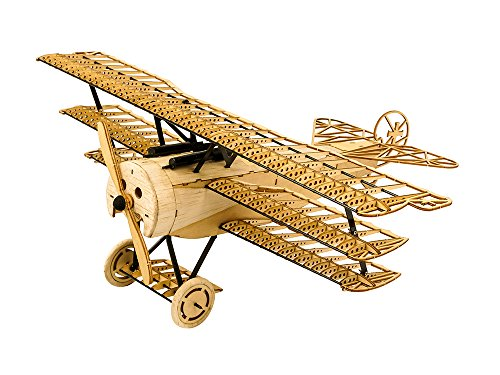 3D Wooden Puzzles Airplane DIY Fokker DR1 Triplane Model Kit Laser Cut Balsa Wood Plane Kits to Build for Adults WW1 Models Aircraft Jigsaw Home Decoration Birthday Gift