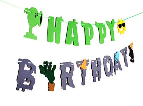 RORARO Plants VS Zombies Birthday Banner – PVZ Party Decorations Supplies