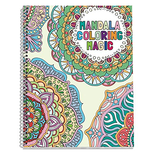 No Name Paper Co Mandala Adult Coloring Book – 85 x 11 inches Spiral Bound Stress Relieving Gift for Sister Mother Busy Grown Up