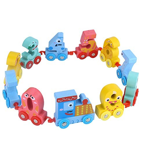 Zerodis Mini Wooden Digital Train Children Building Block Toys Early Educational Learning Intelligent Number Best Birthday Gifts