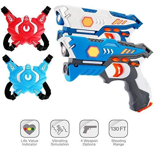 ComTec Laser Tag for Kids Laser Tag Sets with Gun and Vest Laser Guns