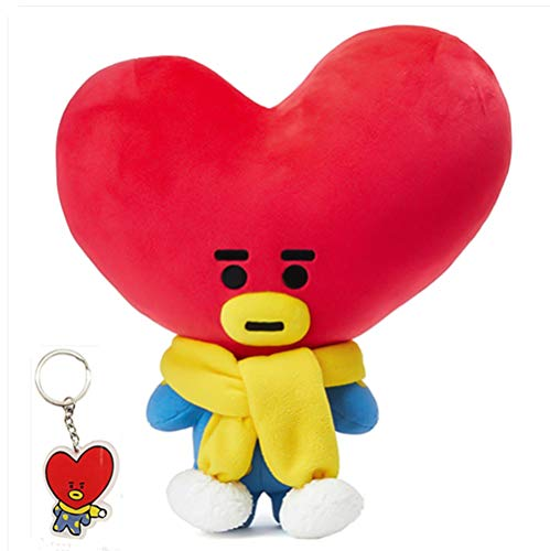 Nuofeng – Kpop bantangboys Cute Cartoon Christmas Plush Figurine Toy + Free Keychain Warm Gift for ARMY TATA