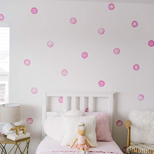 Modern Maxwell Wall Art Decals for Girls Nursery Bedroom Living Room Lola Dot Sticker 32 Pieces