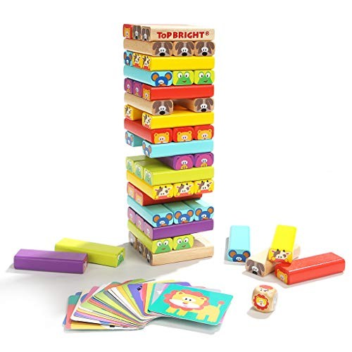 ZaiQu Children's Building Blocks Stacked Wooden Educational Toys 4-6 Years Old Creativity Enlightenment Cognitive Set
