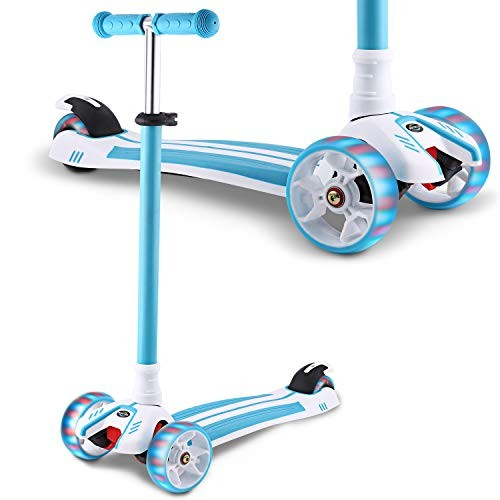 Hikole Scooter for Kids Kick Scooter for Toddlers Girls & Boys with LED Light