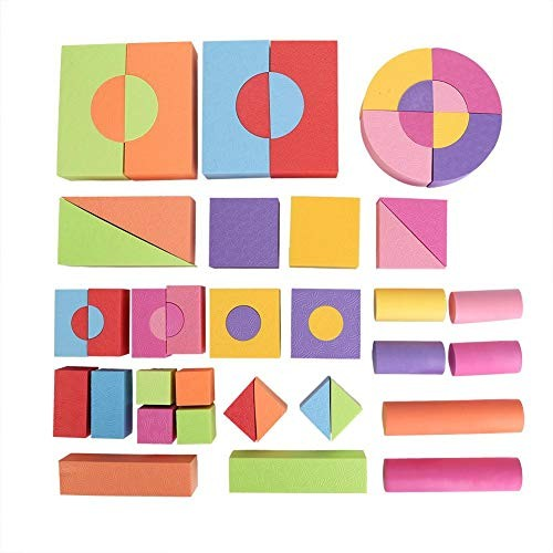 50pcs Set Baby Toy Foam Soft Building Blocks for Toddlers with Bright Colors Learning Intelligent Early Educational Stacking Bricks Board Game Kit