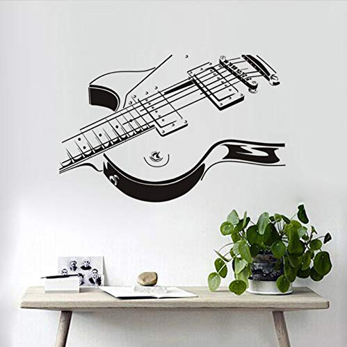 hwhz 59×385 cm Wholesale Electric Guitar Wall Sticker 3D PVC Stickers Sitting Room The Bedroom Decorates Home Decor