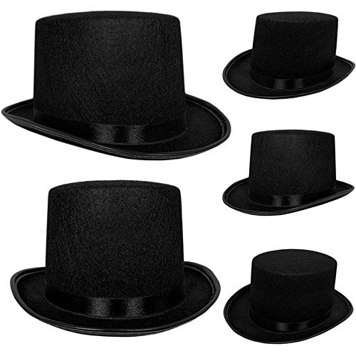Top Hat Black Felt One Size Magician Costume DIY Steampunk Ultra Ringmaster Circus Hats Dress Up Party Accessory By Anapoliz