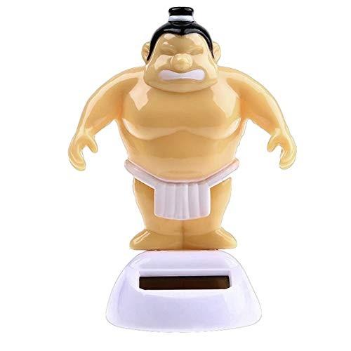heaven2017 Sumo Wrestler Solar Power Swinging Car Interior Dashboard Ornament Gift