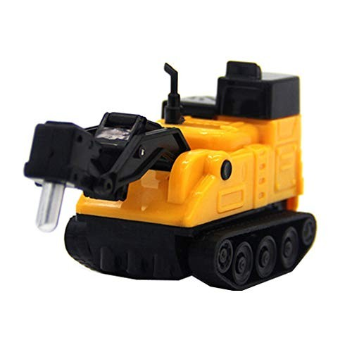 Elevin TM Magic Inductive Engineering Vehicles Follows Black Line Toy Car for Kids A Yellow