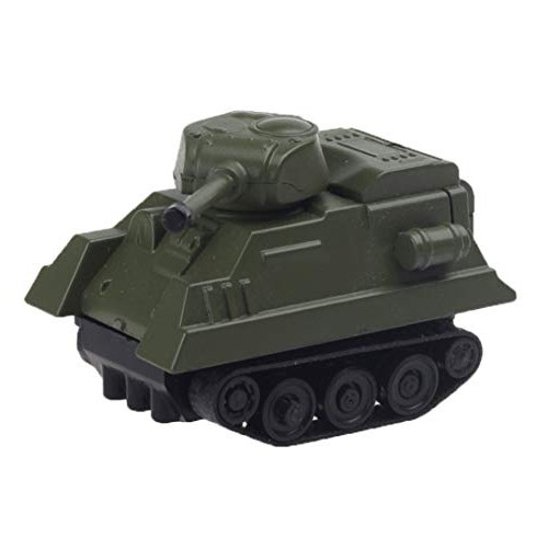 Elevin TM Magic Inductive Tank Engineering Vehicles Follows Black Line Toy Car for Kids Army Green