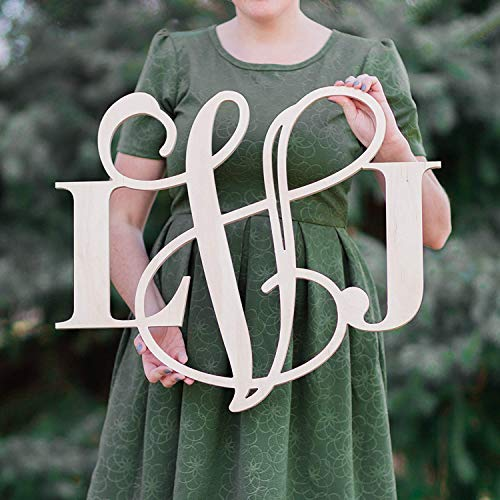 SALE 12-36 inch MIxED Wooden Monogram Letters Vine Room Decor Nursery Wall Art Large Wood hanging