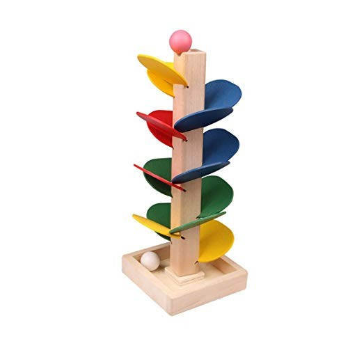 Tmrow Building Blocks Children Educational Wooden Tree Marble Ball Run Track Game Toys Gifts for Kids