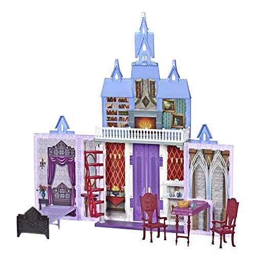 Disney Frozen Fold and Go Arendelle Castle Playset Inspired 2 Movie Portable Play –
