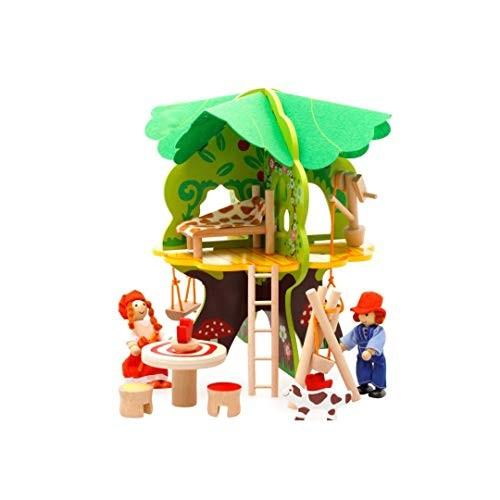 FLYSxP Baby 3D Tree House Assembling Toys Children Play Set Puzzle Building Blocks Scene Children's Educational