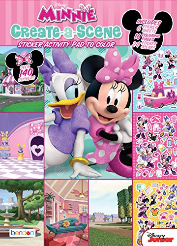 Minnie Mouse Disney Create-A-Scene Sticker Activity Book Bendon 45679