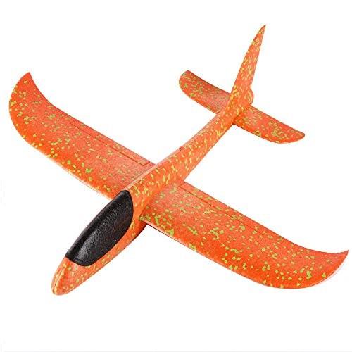 Elevin TM Foam Throwing Glider Airplane Inertia Aircraft Toy Hand Launch Model Orange