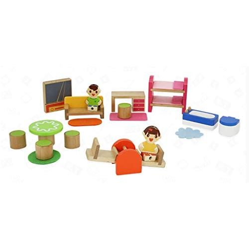 LINGLING-TOYS Toy Role Playing Wooden Assembled Building Blocks Children's Toys Over 2 Years Old Color Multi-Colored