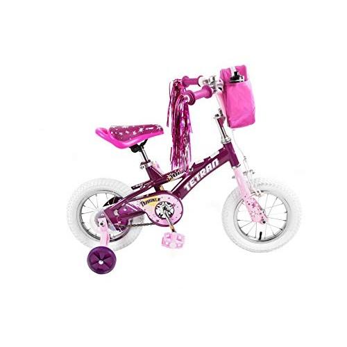 Tetran Twinkle Freestyle BMX Bike 12/16 inch Pink Purple White (Purple 16 inch)