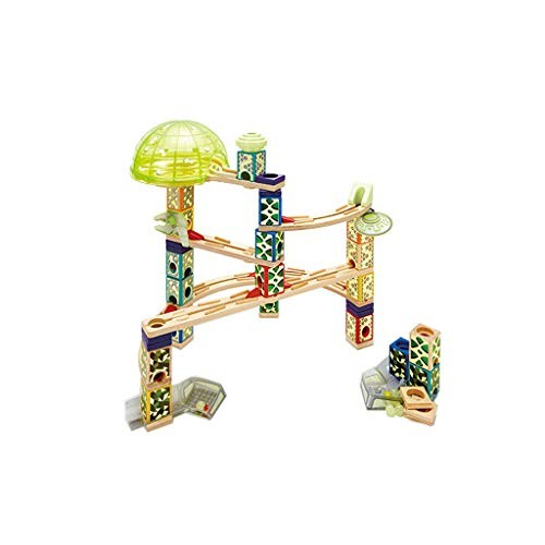 HxGL-Rail car toy Track Sliding Ball Wooden Taxiway Building Blocks Children's Toys Luminous Bottled Color 176 Accessories