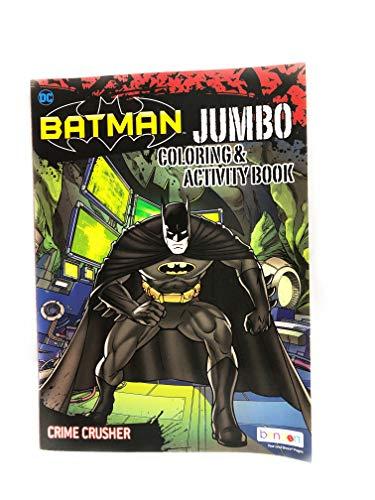 Designed Original DC Batman Crime Crusher Jumbo Coloring and Activity Book
