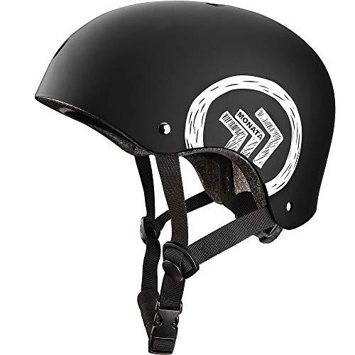 MONATA Skateboard Helmet with CPSC Certified for Skate Helmet Youth or Adults Multisport Roller