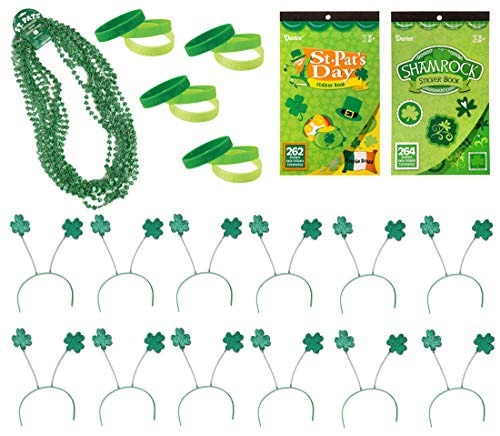 38 Piece Bulk St Patricks Day Themed Party Favor Assortment and Parade Wear Bundle Pack