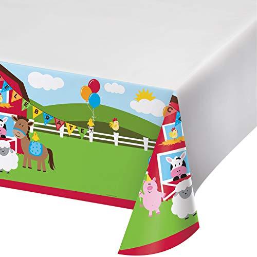 Farm Fun Plastic Tablecloths 3 ct