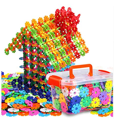 Auoxer Building Block Toys Snowflake Gear Flakes Connect Interlocking Plastic Disc A Creative and Educational Construction Toy Bricks – Best for Boys Girls