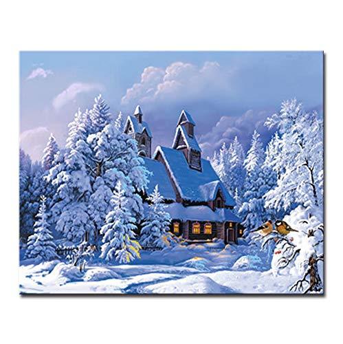 Jigsaw Puzzle 1000 Piece 3D DIY Snow Tree Landscape Poster Wall Photo Art Decorati Unique Picture