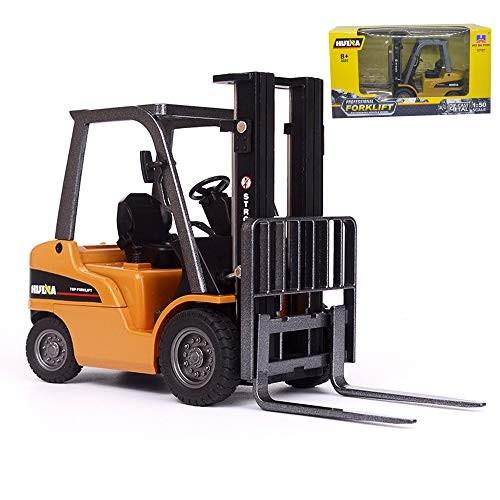 Ailejia 1 50 Scale Forklift Trucks Alloy Models Fork Truck Warehouse Vehicle Model Engineering Car Toy Boy Gift Forklift