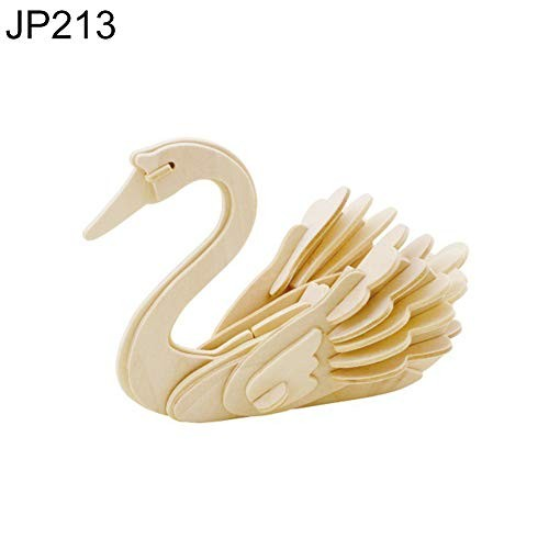 bromrefulgenc Intellectual ToyPuzzle Jigsaw Kids Toy3D Animal Wooden Assembly Building Block Puzzle Brain Teaser Educational Toy – JP213