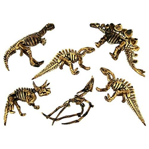 Entervending 3 inch Assorted Soft Dinosaur Skeleton Kids Toy 100 pcs