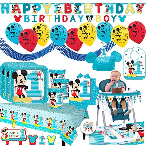 Mickey Mouse High Chair Decorating Kit  from d39qw52yhr4bcj.cloudfront.net