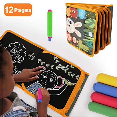 TUMAMA Portable Drawing Board for Travel Dust-Free Chalk Doodle Book Early Educational Baby Toys Gift Boys GirlsToddlers and Kids 1 Years Old