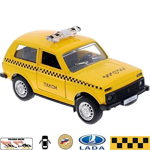 Diecast Metal Model Car Lada 4×4 VAZ 2121 Niva Russian Taxi Toy Die-cast Cars