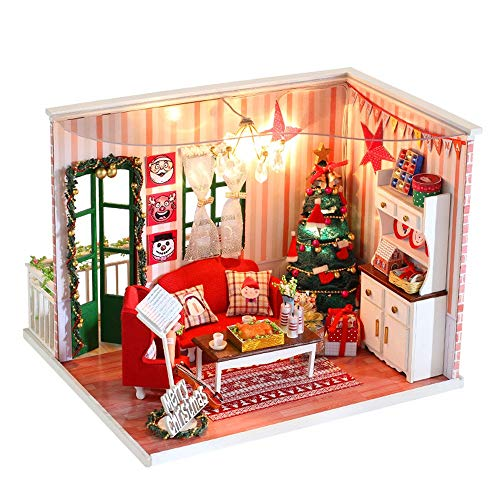 Tronet DIY Dollhouse Wooden Miniature House Furniture LED Decorate Creative Best Birthday Gifts for Women and Girls