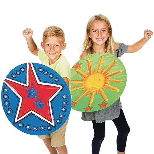 Color-Me Super Hero Shields Pack of 24